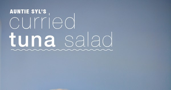 meatless mondays (sorta): curried tuna salad ( a bite)