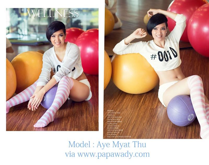 Aye Myat Thu Stunning Cover Story Photos For Wellness Magazine
