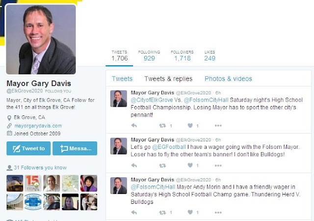 Elk Grove Mayor Gary Davis issues twitter challenge