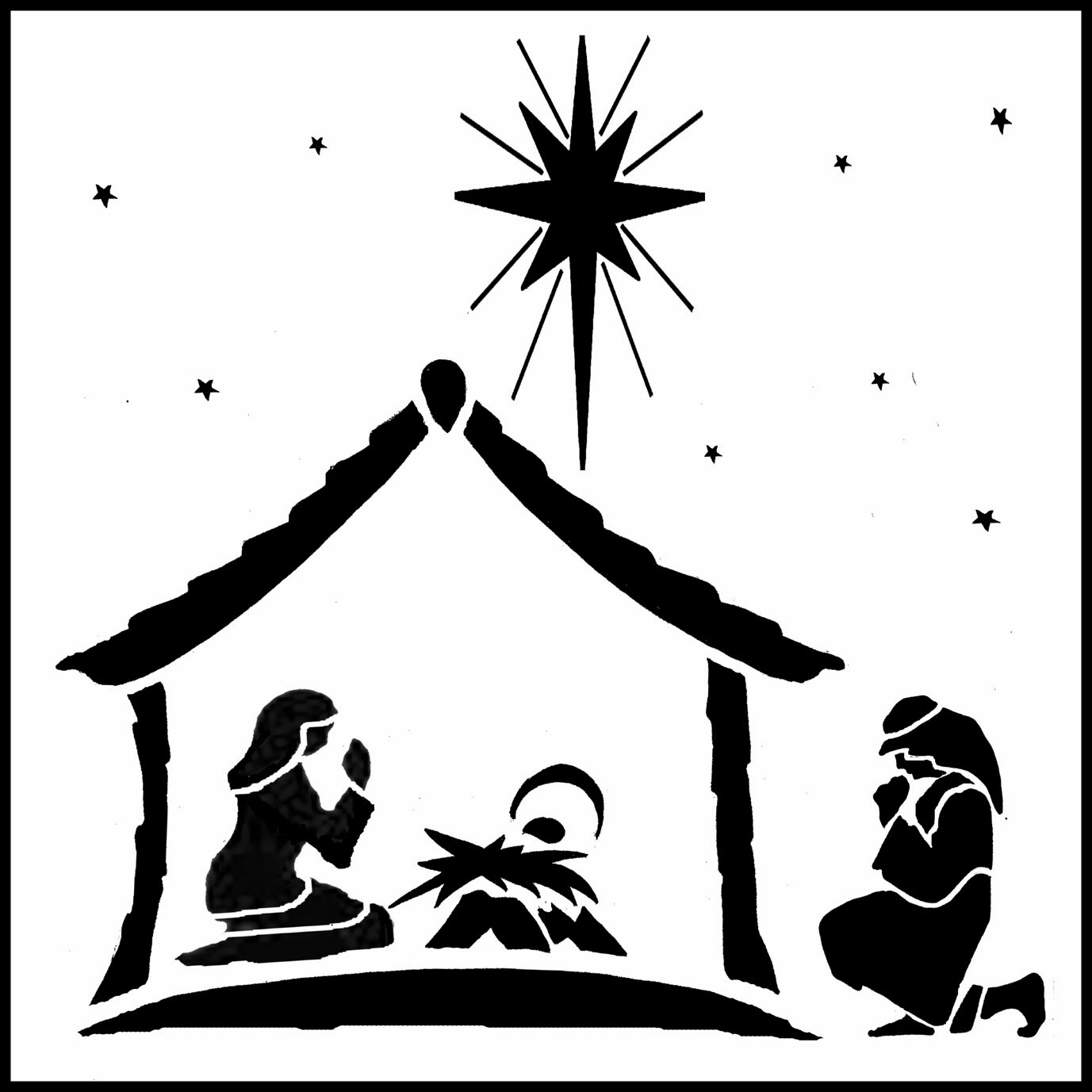 Line Drawing Nativity : Christmas crib for drawing baby design inspiration