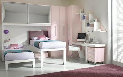 habitación para hermanas rosa