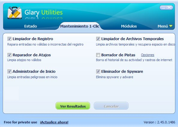 Glary Utilities 1 click