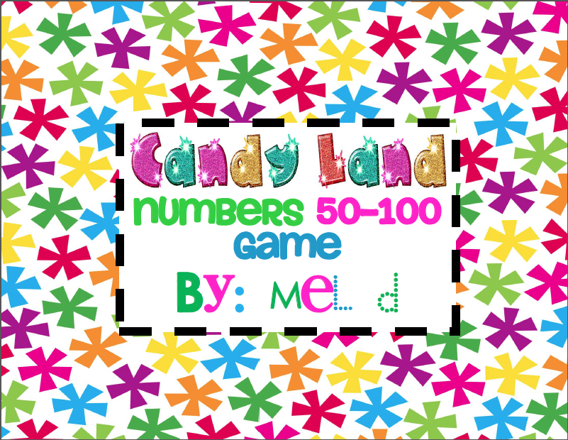 http://www.teacherspayteachers.com/Product/Candy-Land-Numbers-50-100-Game-198068
