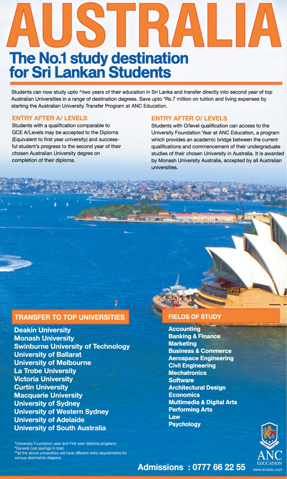 ANC EDUCATION: Australia, the No 1 study destination for Sri ...