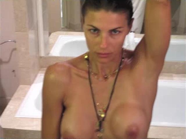 Martina Colombari Twitts Her Naked Colection