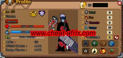 Cheat Ninja Saga Set Kisame Akatsuki Cheat-Afrix