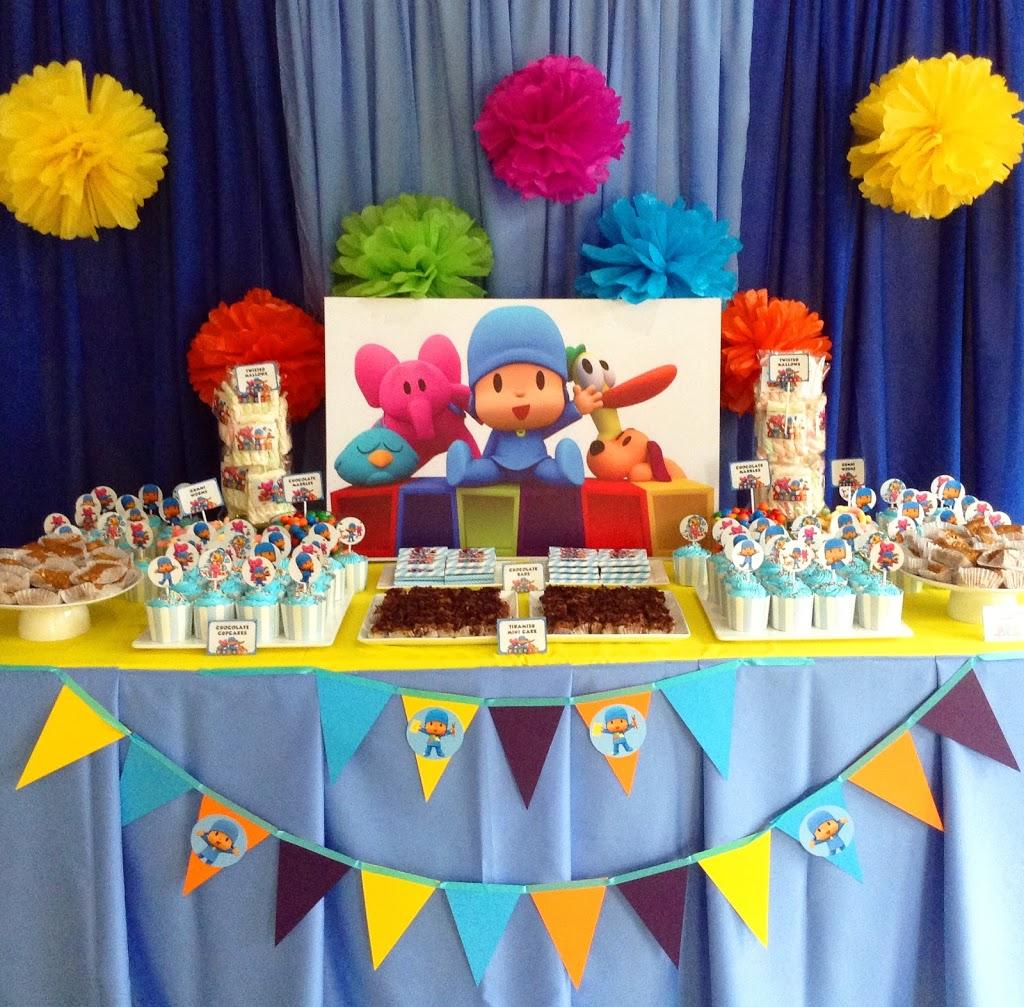 Fiestas infantiles decoradas con pocoyo parte 1 for Decoracion mesas infantiles