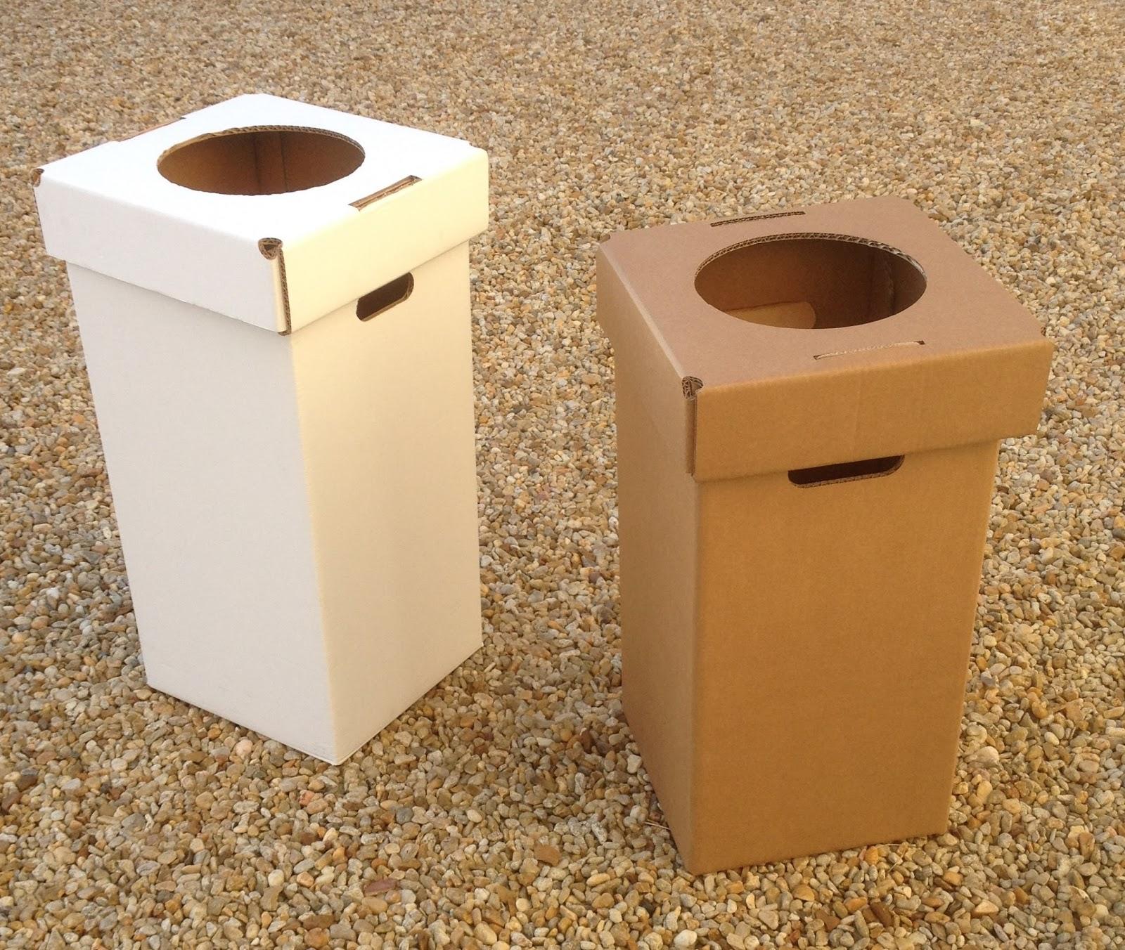 carton kit cr ations objets et meubles 100 carton poubelles de tri s lectif en carton. Black Bedroom Furniture Sets. Home Design Ideas