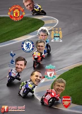 Arsenal EPL 2013-2014 bike race meme