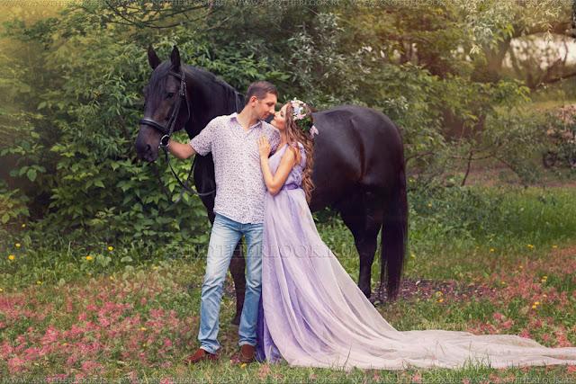 романтическая фотосессия с лошадью