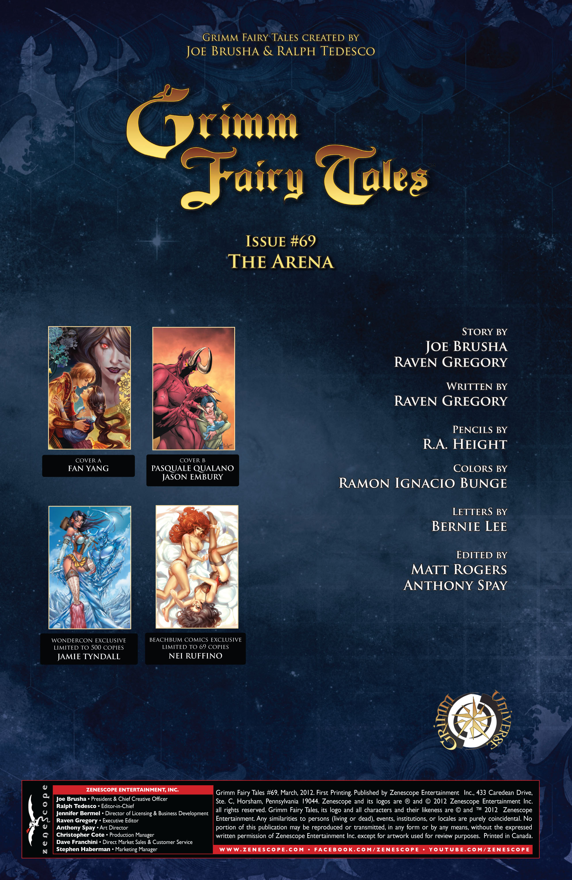 Grimm Fairy Tales (2005) Issue #69 #72 - English 2