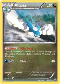 Altaria Dragons Exalted Pokemon Card