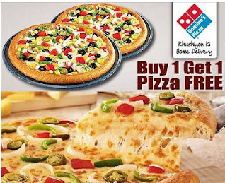 Dominos Pizza Buy 1 Get 1 Free