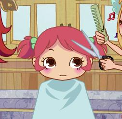 تصفيف شعر الطفله