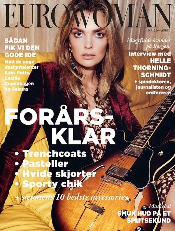 Model @ Gertrud Hegelund  by Rasmus Weng Karlsen for Eurowoman Magazine, April 2015