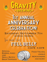 Gravity Brewing 1st Anniversary