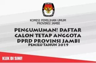 DCT DPRD Provinsi Jambi Pemilu 2019