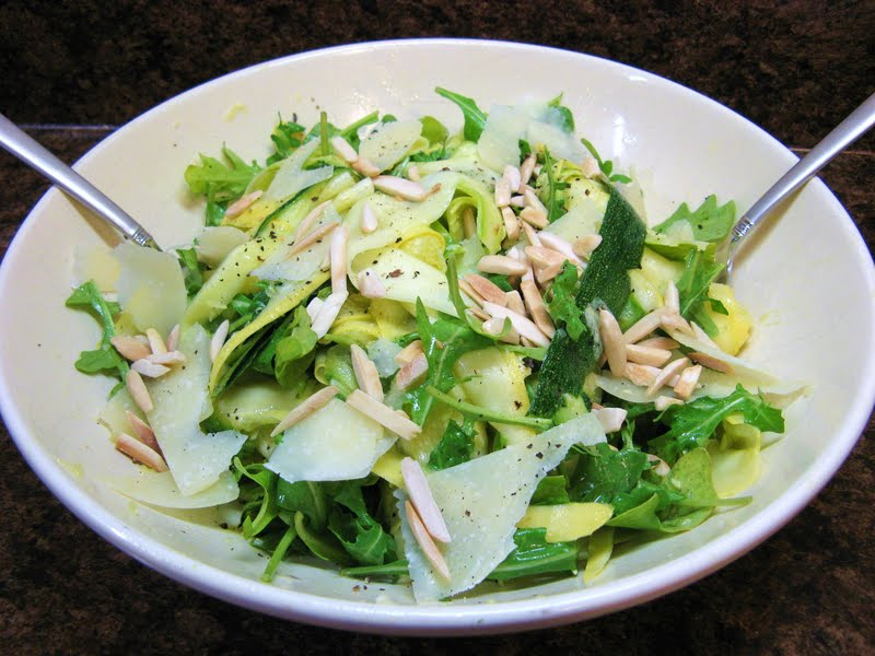 The Well-Fed Newlyweds: Shaved Summer Squash Salad