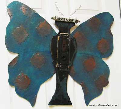 recycled butterfly art