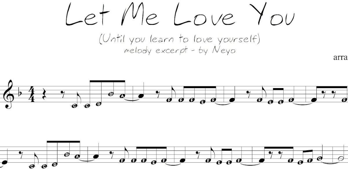 Pianopad Upload Community This Song Titled Let Me Love You By