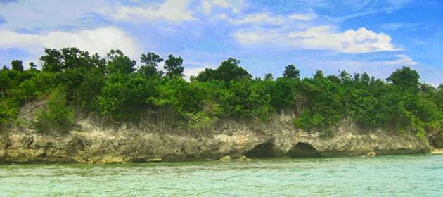 tebing karang pantai palippis