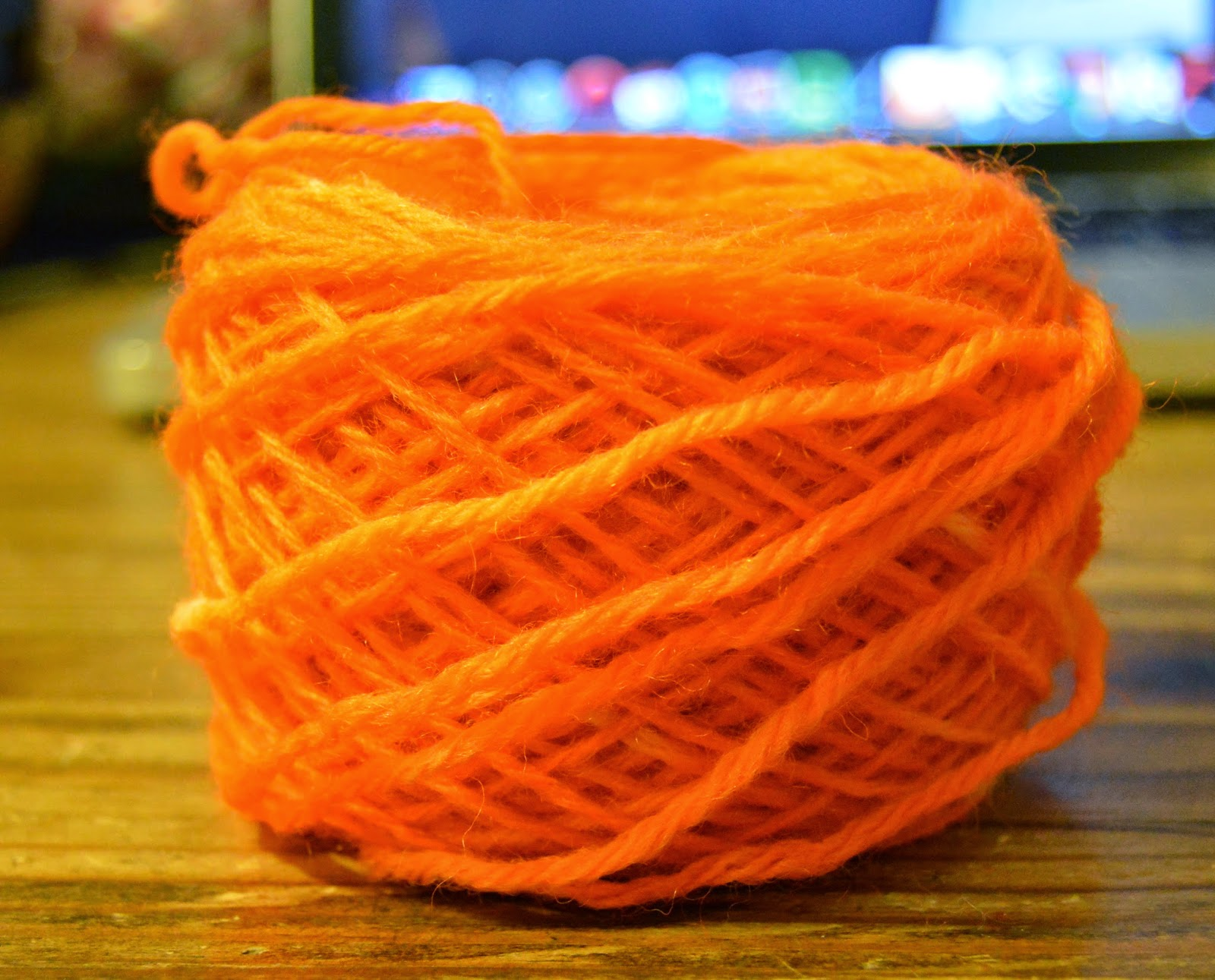 bright orange dyed with food coloring