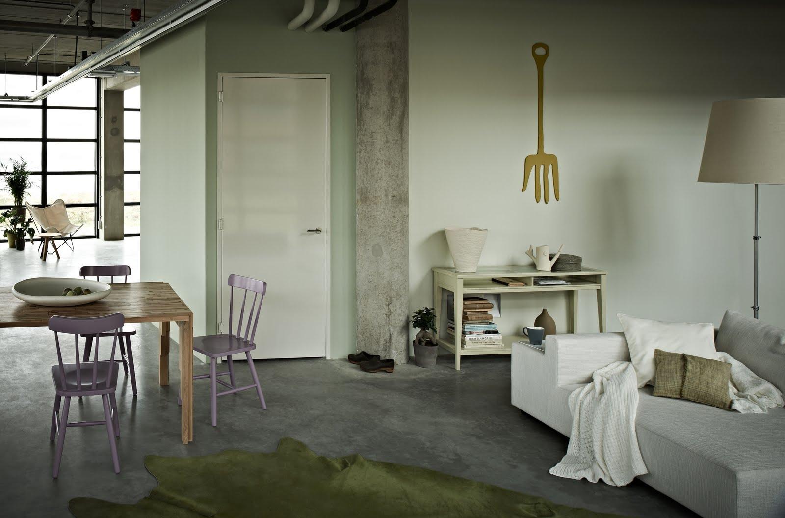 Kleurenpalet paars groen oker grijs villa d 39 esta for Bruin grijs interieur