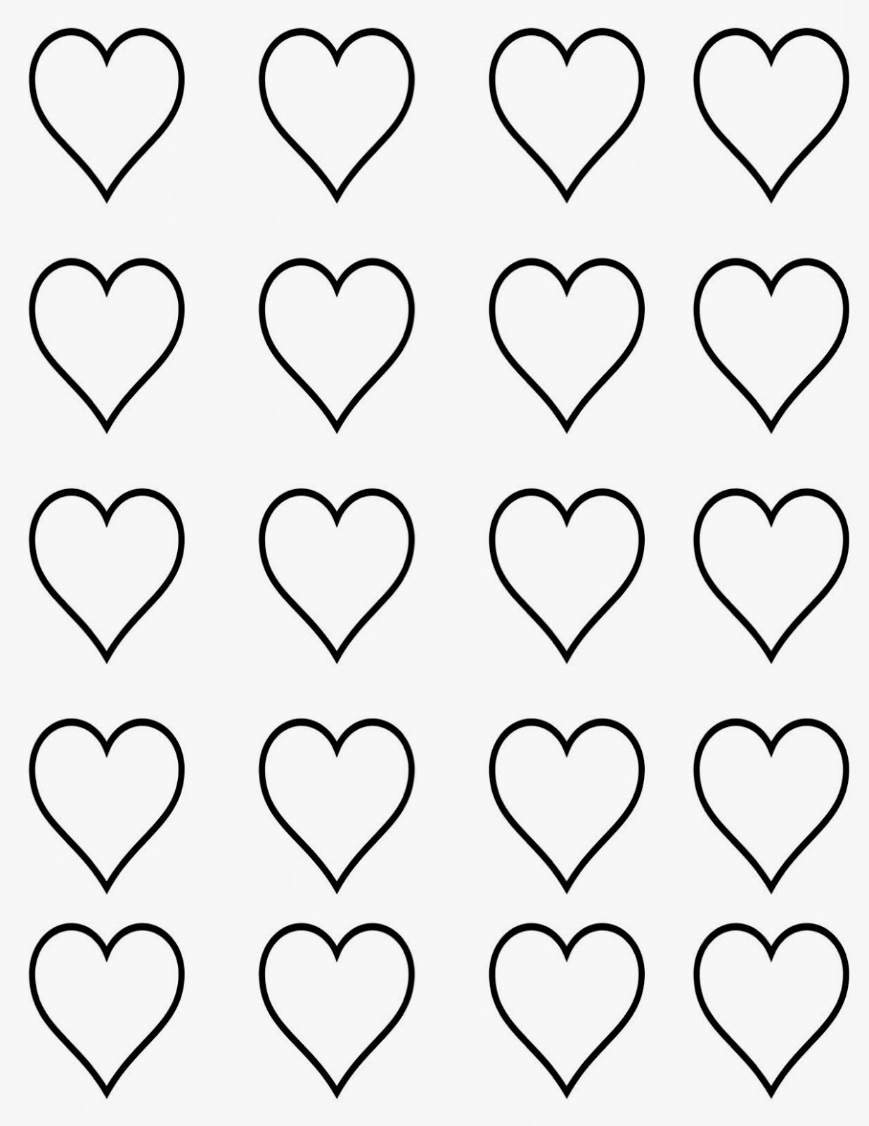 Heart Templates Is It For PARTIES FREE
