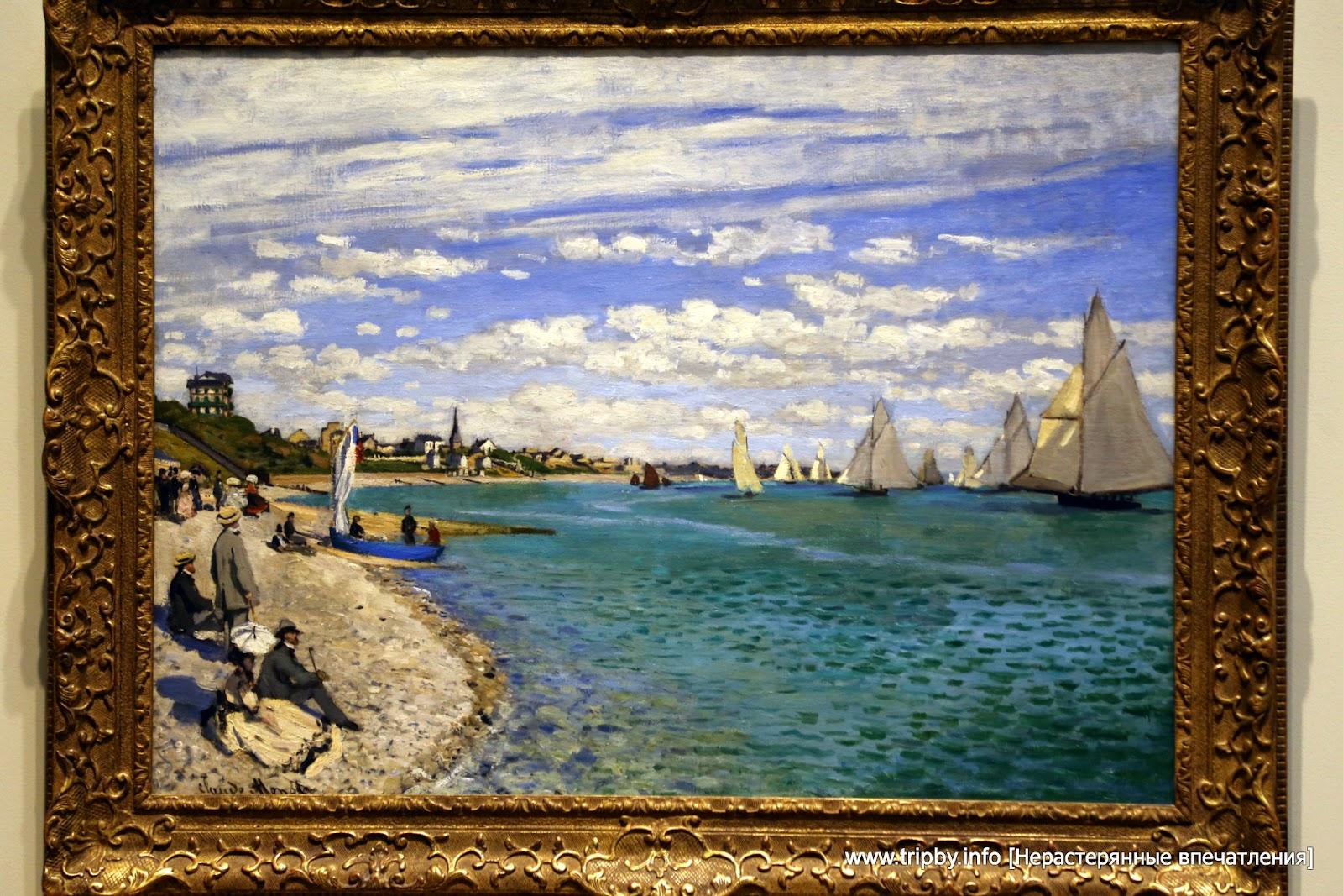 Regatta at Sainte-Adresse Claude Monet