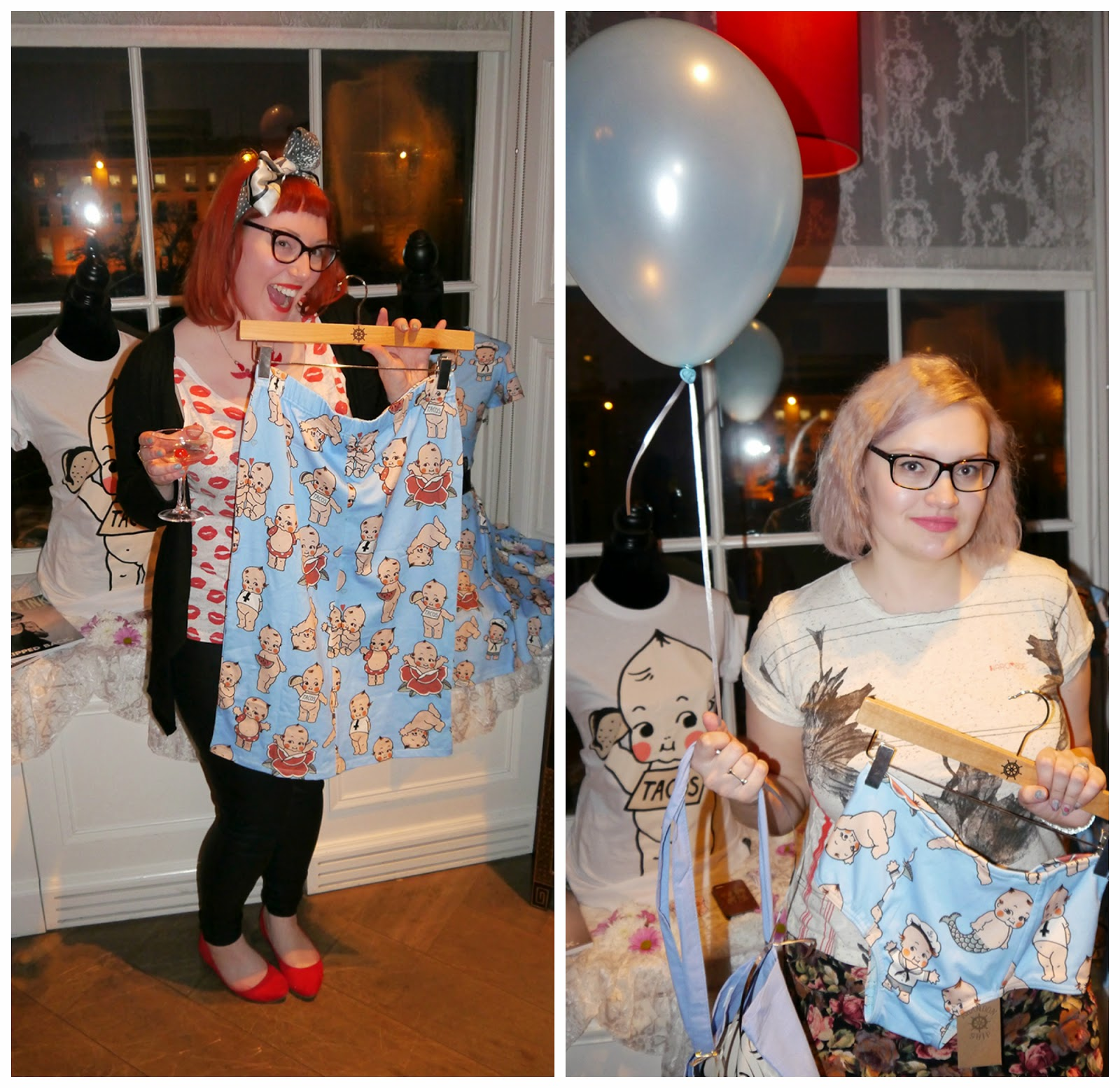 Abandon Ship Apparel, Kewpie collection, Kewpie Party, Glasgow, DIY Nails, Scottish Bloggers, Our picks, pencil skirt, high waisted briefs