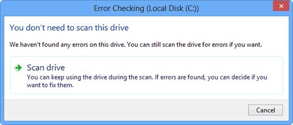 scan Windows 8 hard drive or not