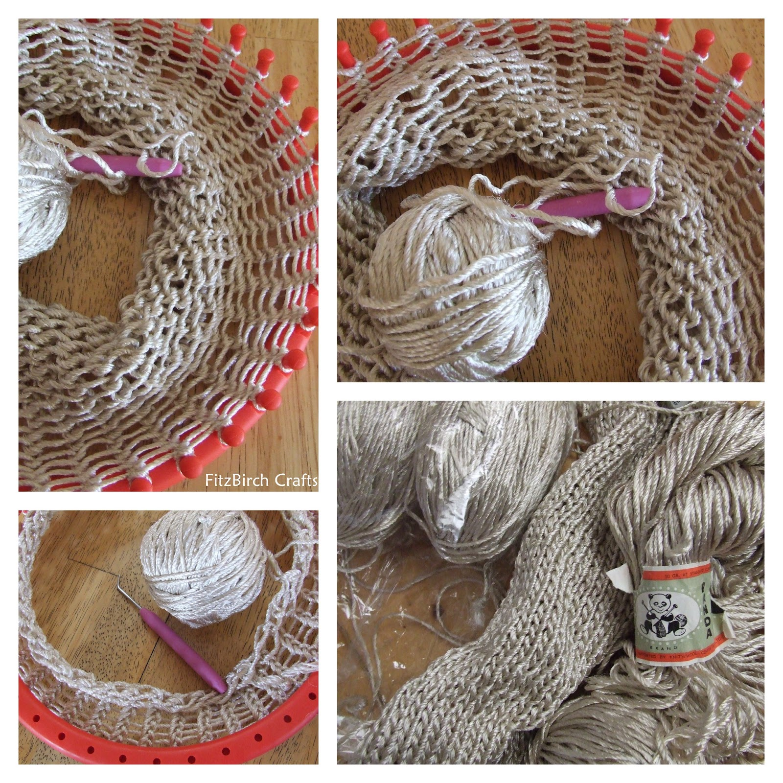 Loom Knitting Bag Patterns : FitzBirch Crafts: Loom Knitting