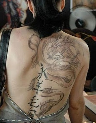 Backside Dragon Tattoos for Girl