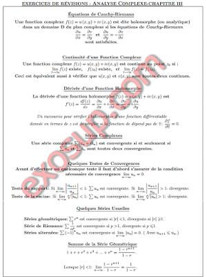 fonctions holomorphes,continuité,dérivée,séries complexes