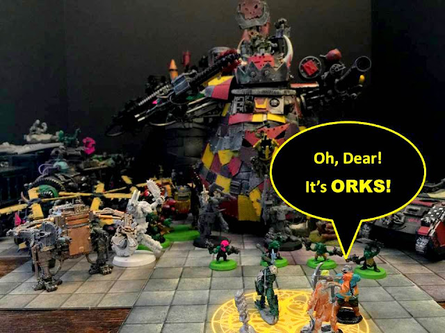 40K and D&D; Orks and D&D; 40K Orks and D&D; Battle Gaming One