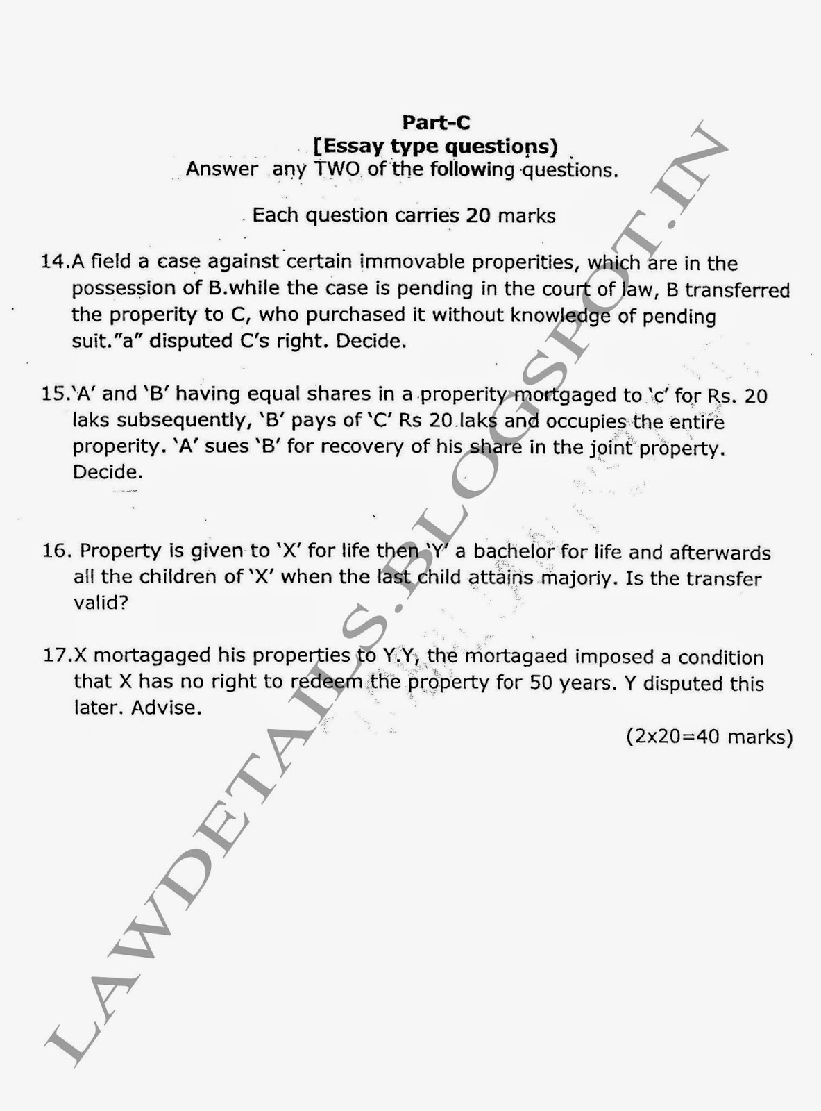 lawdetails pot in semester property law sv university property law sem iii 3year llb svu feb 2012 page 2