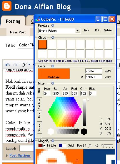 Color Picker untuk Mengetahui Hex Color - ColorPic dari IconIco