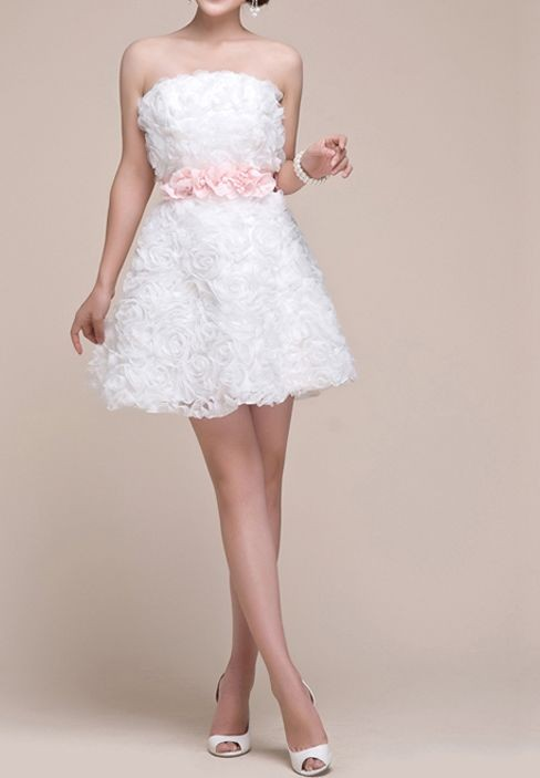 Whiteazalea bridesmaid dresses short cute bridesmaid dress for Cute short white wedding dresses