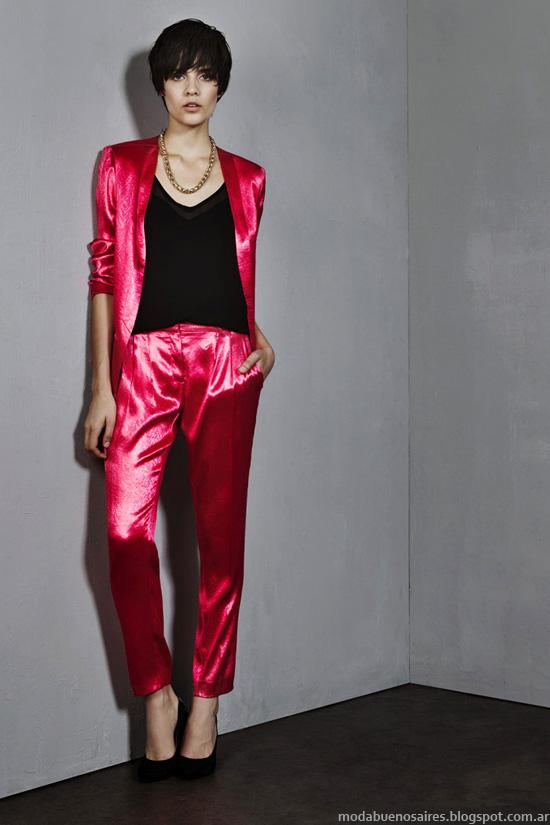 Pantalones de vestir y trajes de mujer invierno 2014.