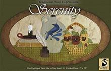 "Serenity Wool Applique Runner 12"" x 22"""