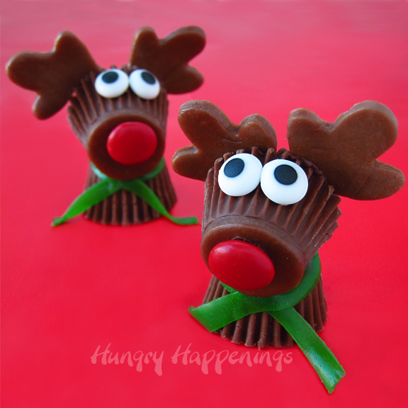 Edible Christmas Craft Ideas Part - 26: Reeseu0027s Cup Rudolph The Red Nose Reindeer