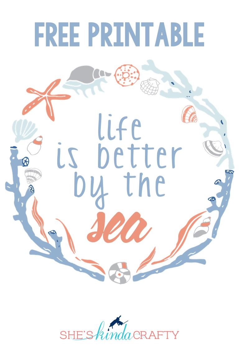 Inspirational This Life is Better by the Sea print just makes me happy and I have it displayed right by the front door