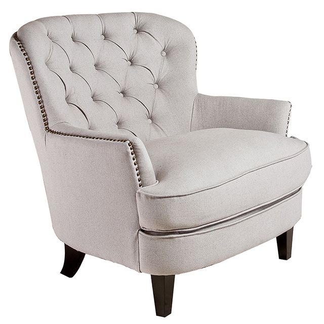 Amazon Alfred Natural Linen Fabric Club Chair