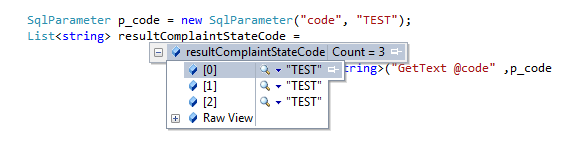 How to use ExecuteStoreQuery with parameters on the Entity Framework 2