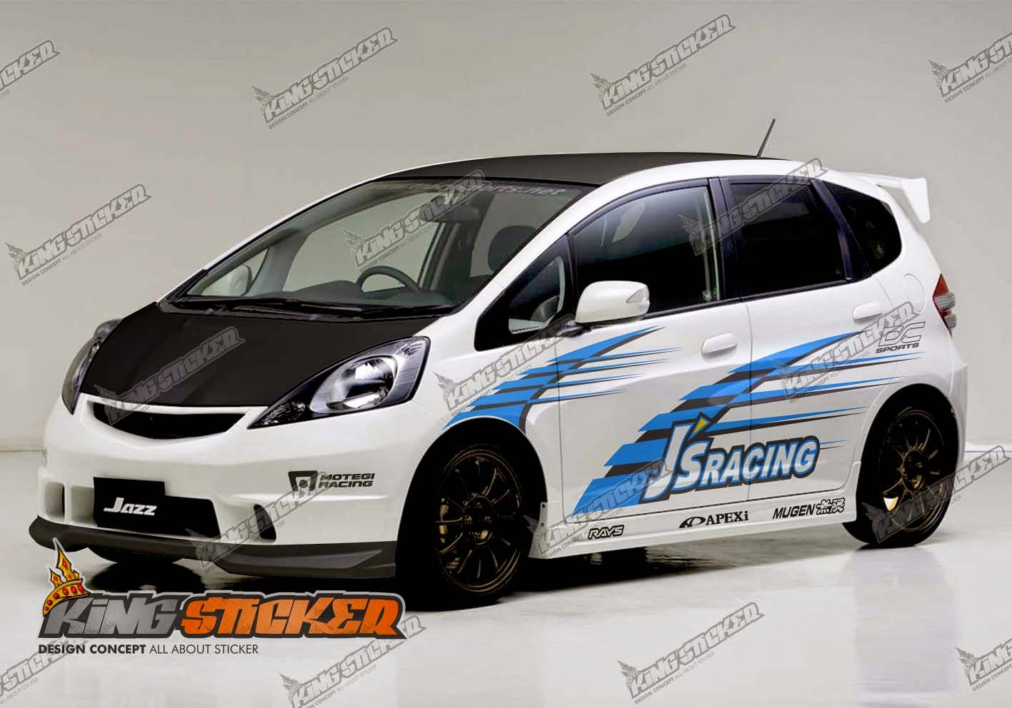 Car cutting sticker design -  Cutting Sticker Mobil Di Bali Cutting Sticker Honda Jazz Rs Di Bali Cutting Sticker