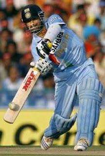 Sachin Tendulkar the god in Action in cricket match