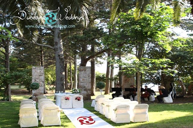 dubrovnikweddings.com, Lokrum island wedding
