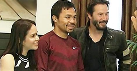 Keanu Reeves visit to Manny Pacquiao