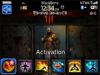 Theme Name : Blackberry Bold 9700 Free Diablo 3 Monk Theme