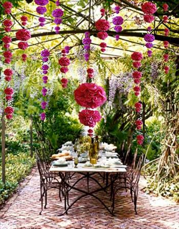 Mesa fiesta jardín